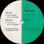 Pochette This Is a…? / Acid Phase (Single)