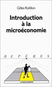 Couverture Introduction à la microéconomie