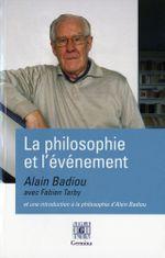 Couverture La philosophie et l'événement