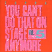 Pochette You Can't Do That On Stage Anymore, Vol. 5 (Live)