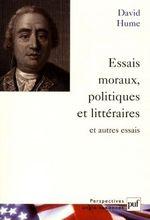 Couverture Essais moraux, politiques et littéraires et autres essais
