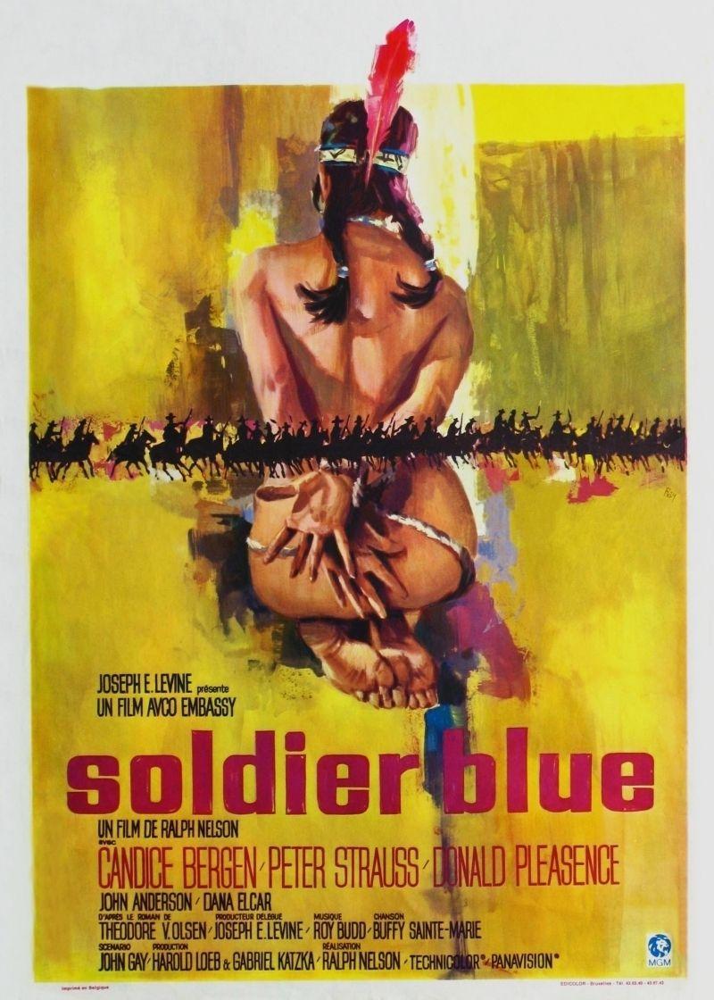 Affiche classique du film soldat bleu