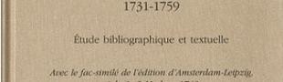 Couverture Manon Lescaut de l'abbé Prévost, 1731-1759