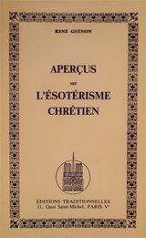 Couverture Aperçus sur l'Ésotérisme Chrétien