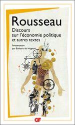 Couverture Discours sur l'économie politique