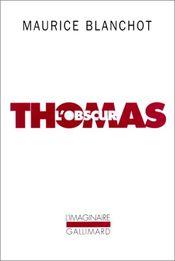 Couverture Thomas l'obscur