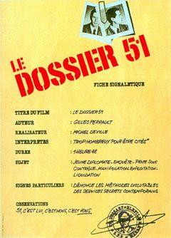 Affiche Le Dossier 51