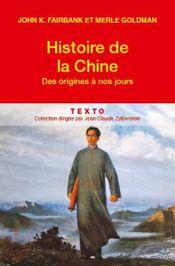 Couverture Histoire de la Chine