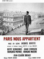 Affiche Paris nous appartient