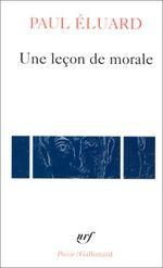 Couverture Une leçon de morale
