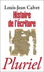 Couverture Histoire de l'écriture