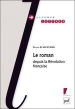 Couverture Le roman depuis la Révolution française
