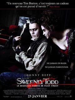 Affiche Sweeney Todd - Le Diabolique Barbier de Fleet Street