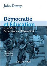 Couverture Démocratie et éducation