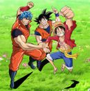 Affiche Toriko X One Piece X Dragon Ball Z