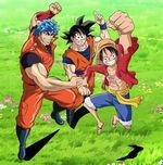 Affiche Toriko X One Piece X Dragon Ball Z