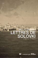 Couverture Lettres de Solovki