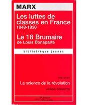 Couverture Les Luttes de classes en France : 1848-1850