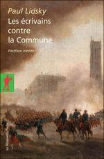 Couverture Les écrivains contre la Commune