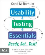 Couverture Usability Testing Essentials: Ready, Set…Test!