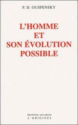 Couverture L'homme et son évolution possible