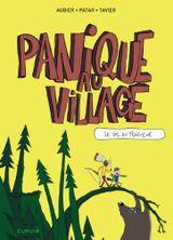 Couverture Le vol du tracteur - Panique au village, tome 1