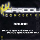 Pochette Concerts 85 : Rouge (Single)