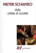 Couverture Style, artiste et société