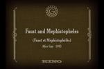 Affiche Faust et Méphistophélès