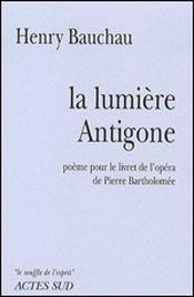 Couverture La Lumière Antigone