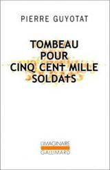 Couverture Tombeau pour cinq cent mille soldats