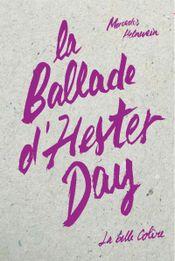 Couverture La ballade d'Hester Day