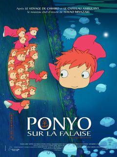 Affiche Ponyo sur la falaise