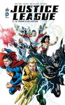 Couverture Le Trône d'Atlantide - Justice League, tome 3
