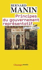 Couverture Principes du gouvernement représentatif