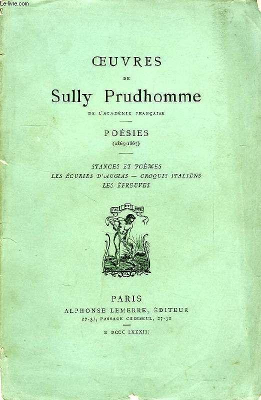 Stances Et Poèmes Sully Prudhomme Senscritique