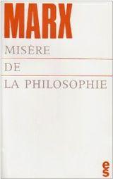 Couverture Misère de la philosophie