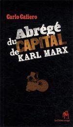 Couverture Abrégé du Capital de Karl Marx