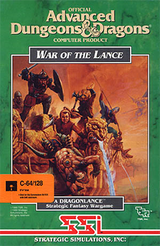 Jaquette Advanced Dungeons & Dragons : War of the Lance