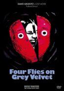 Affiche Quatre mouches de velours gris