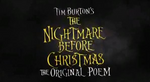 Affiche The Nightmare Before Christmas : The Original Poem