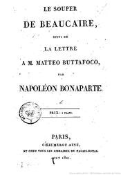 Couverture Le Souper de Beaucaire