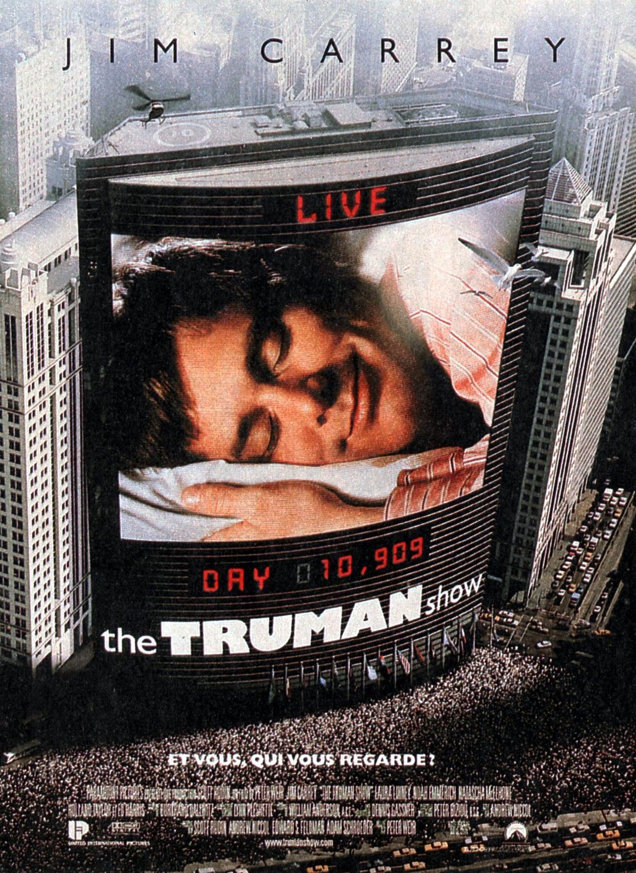 the truman show related text The truman show is a 1998 american satirical science fiction film directed by peter weir, produced by scott rudin, andrew niccol, edward s feldman, and adam schroeder, and written by niccol.