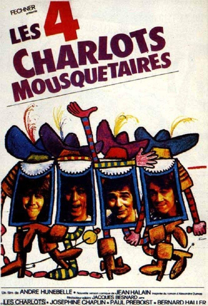 quatres charlots mousquetaires