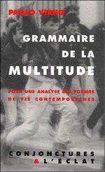 Couverture Grammaire de la multitude