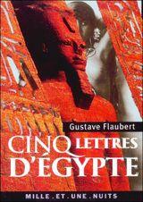 Couverture Cinq lettres d'Egypte
