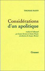 Couverture Considérations d'un apolitique