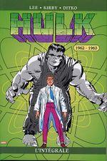 Couverture 1962-1963 - Hulk : L'Intégrale, tome 1