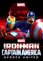 Affiche Iron Man and Captain America : Heroes United