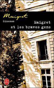 Couverture Maigret et les braves gens